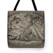 Classical Greek Woman Fresco Tote Bag by Bill Cannon