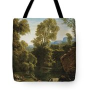 Classical Landscape With Figures By A Lake Tote Bag