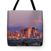 Classical View Of Los Angeles Downtown Tote Bag