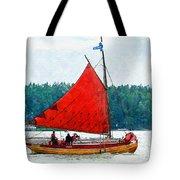 Classical Wooden Boat Tacksamheten Tote Bag