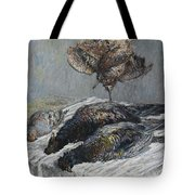 Claude Monet 1840 - 1926 Pheasant, Woodcock And Partridge Tote Bag