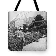 Claude Monet In His Garden Tote Bag