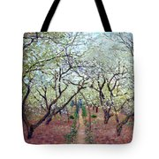 Claude Monet Orchard In Bloom Tote Bag