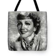 Claudette Colbert Vintage Hollywood Actress Tote Bag