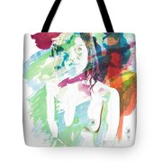 Claudia Nude Fine Art Painting Print In Sensual Sexy Color 4887. Tote Bag