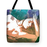 Claudia Nude Fine Art Painting Print In Sensual Sexy Color 4893. Tote Bag