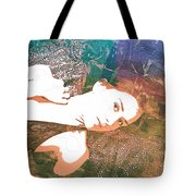 Claudia Nude Fine Art Painting Print In Sensual Sexy Color 4895. Tote Bag
