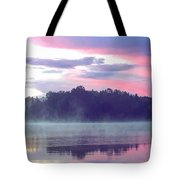 Clay Lake Sunrise Tote Bag