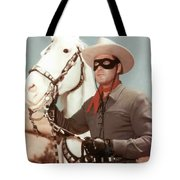 Claytn Moore The Lone Ranger Tote Bag