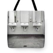 Clean Simple Public Washroom Sinks Mirrors Tote Bag