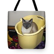 Cleaning Cat Tote Bag