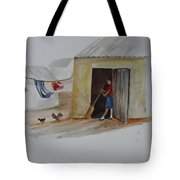 Cleaning Day In Agladones Tote Bag
