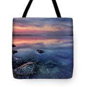 Clear Blue Morning Tote Bag