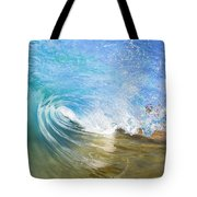 Clear Blue Wave Tote Bag