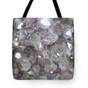 Clear Crystal Amethyst Tote Bag