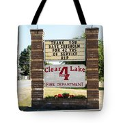 Clear Lake Fire Department Tote Bag