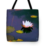 Clear Reflections Lotus Tote Bag