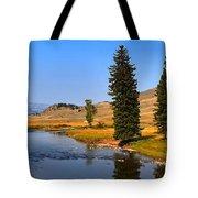 Clear Skies Over Slough Creek Tote Bag