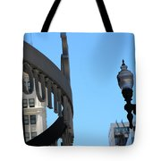 Clear Street Lamp Downtown Chicago Tote Bag