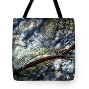 Clear Water Level With Twigs Tote Bag