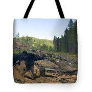 Clearcut Logging Site Tote Bag