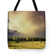 Clearing Summer Storm Grand Tetons National Park Tote Bag