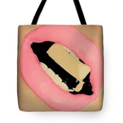 Cleavage Candied Lips Tote Bag