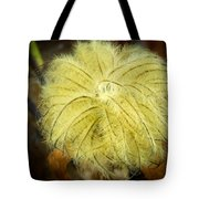 Clematis Flower Head In Fall Tote Bag