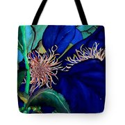 Clematis Regal In Purple And Blue Sold Tote Bag