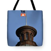 Clemson Flag At State House Tote Bag