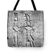 Cleopatra And Caesarion, Temple Tote Bag