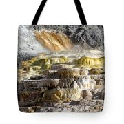Cleopatra Terrace In Yellowstone National Park Tote Bag