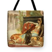 Cleopatra Testing Poisons On Those Condemned To Death Tote Bag by Alexandre Cabanel