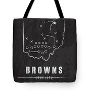 Cleveland Browns Art - Nfl Football Wall Print Tote Bag by Damon Gray