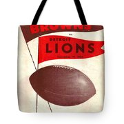 Cleveland Browns Vintage Program 4 Tote Bag