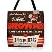 Cleveland Browns Vintage Program 5 Tote Bag