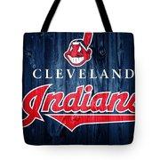 Cleveland Indians Barn Door Tote Bag
