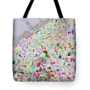 Cleveland Map 2 Tote Bag