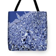 Cleveland Map Blue Tote Bag