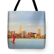 Cleveland On The Lake Tote Bag