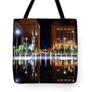 Cleveland Public Square Fountains Tote Bag