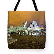 Cleveland Sign At Voinovich Park Tote Bag