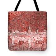 Cleveland Skyline Abstract 10 Tote Bag