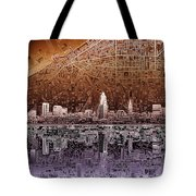 Cleveland Skyline Abstract 2 Tote Bag