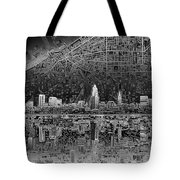 Cleveland Skyline Abstract 3 Tote Bag
