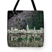 Cleveland Skyline Abstract 4 Tote Bag
