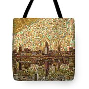 Cleveland Skyline Abstract 6 Tote Bag