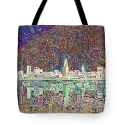 Cleveland Skyline Abstract 8 Tote Bag