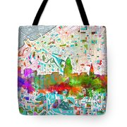 Cleveland Skyline Watercolor 2 Tote Bag