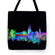 Cleveland Skyline Watercolor 3 Tote Bag